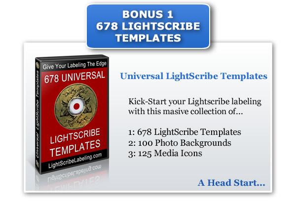 Bonus LightScribe Templates