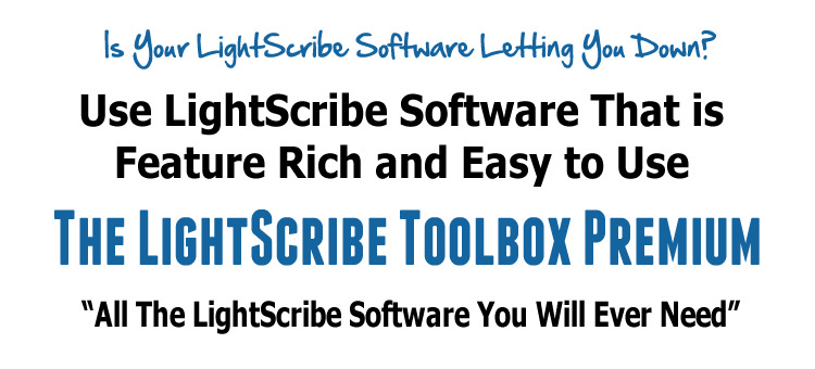 The LightScribe Toolbox Premium