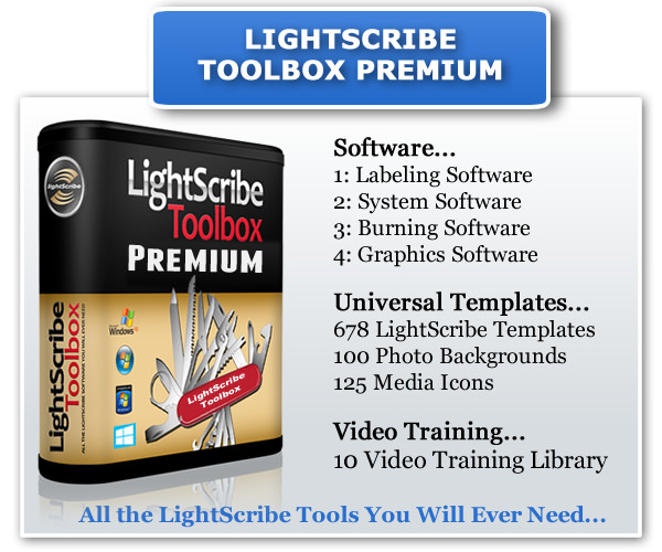 The LightScribe Toolbox Software Contents