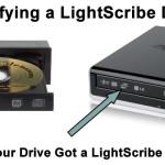 LightScribe Drive Logo Locations