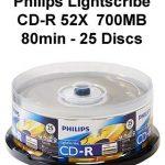 Philips Lightscribe CD-R 52X 700MB 80min - 25 Discs
