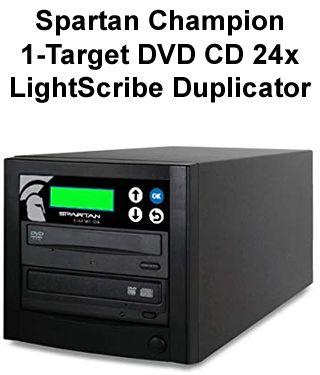 Spartan Champion 1-Target DVD CD 24x LightScribe Duplicator