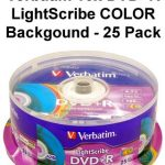 Verbatim 16x DVD+R LightScribe COLOR Backgound - 25 Pack
